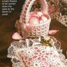 X738 Crochet PATTERN ONLY Ring Bearer's Pillow & Flower Girl's Basket
