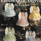 X659 Crochet PATTERN Book ONLY Christmas Clothespin Angels to Crochet Ornament