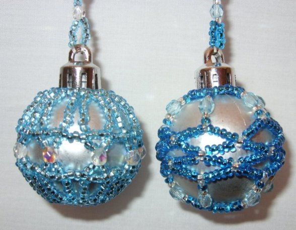 X179 Bead PATTERN ONLY Beaded Baby or Mini Christmas Ornament Cover No. 2