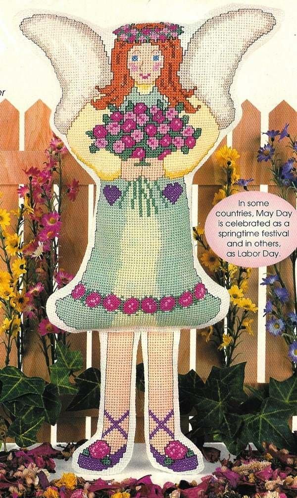 """X236 Cross Stitch PATTERN Chart ONLY Angel Doll Pattern 18"""" Tall Pattern"""