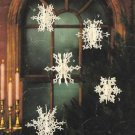 X549 Crochet PATTERN ONLY Let it Snow 3-Dimensional Snowflake Christmas Ornament