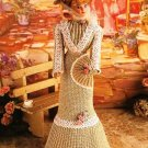 X464 Crochet PATTERN ONLY Garden Tea Gown Fashion Doll or Barbie Pattern