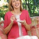 X314 Crochet PATTERN ONLY Pretty in Pink Short Sleeve Sweater Pattern