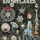 X429 Crochet PATTERN Book ONLY Snowflakes & Tinsel Christmas Ornaments