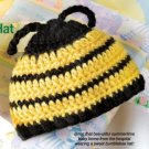 W377 Crochet PATTERN ONLY Newborn Baby Bumblebee Hat Pattern