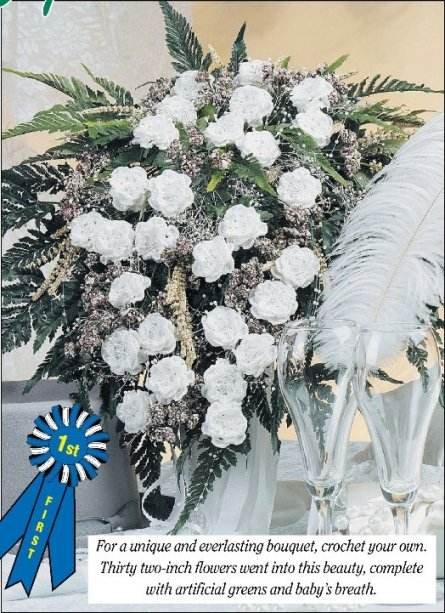 W216 Crochet PATTERN ONLY Unique Everlasting Bridal Bouquet Pattern Wedding