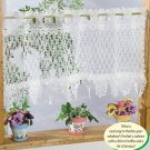 W265 Crochet PATTERN ONLY Lacy Ruffled Splendor Curtain Valance Pattern