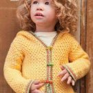 W275 Crochet PATTERN ONLY Signs of Spring Baby Hoodie Sweater Pattern