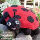 W296 Crochet PATTERN ONLY Ladybug Toy Doll or Pillow Pattern