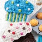 W293 Crochet PATTERN ONLY Crazy for Cupcakes Potholder Pot Holder Patterns