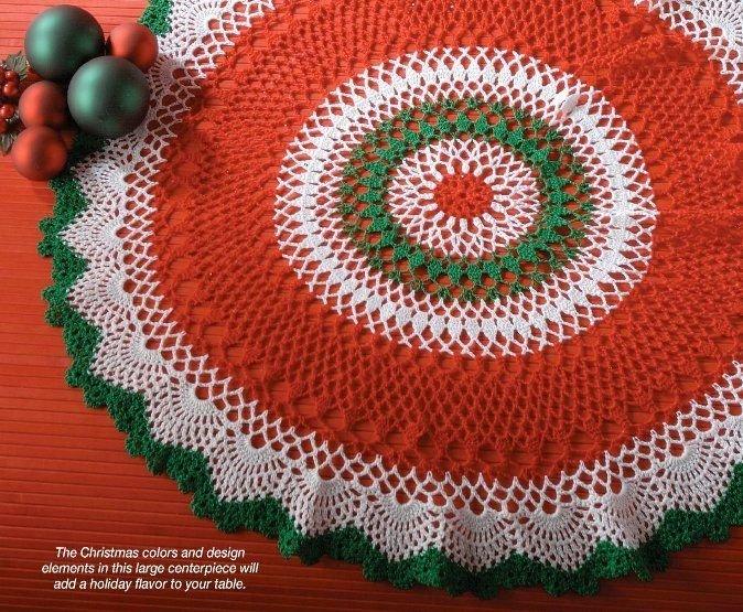 X340 Crochet PATTERN ONLY Christmas Centerpiece Doily Table Scarf Pattern