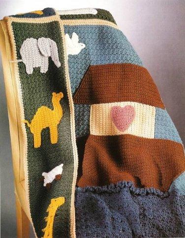 Y248 Crochet PATTERN ONLY Noah�s Ark Blanket Afghan Patterns