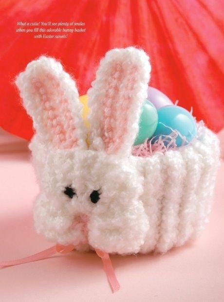 W324 Crochet PATTERN ONLY On-the-Double Bunny Basket Pattern Easter Rabbit
