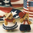 X003 Crochet PATTERN ONLY Miniature Teddy Bears in Patriotic Outfits Pattern