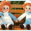 Y396 Crochet PATTERN ONLY Rag Doll Muffin Twins Boy & Girl Patterns