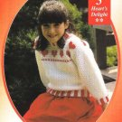 Y042 Crochet PATTERN ONLY Heart's Delight Child's Sweater & Evening Bag