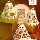 X753 Crochet PATTERN ONLY Jeweled Bells Christmas Ornaments