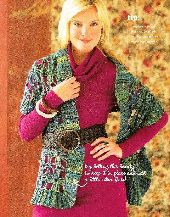 X220 Crochet PATTERN ONLY Woodsy Wrap Shawl Pattern