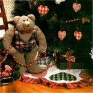 X217 Sewing PATTERN ONLY Country Christmas Bear and Heart Ornaments Patterns