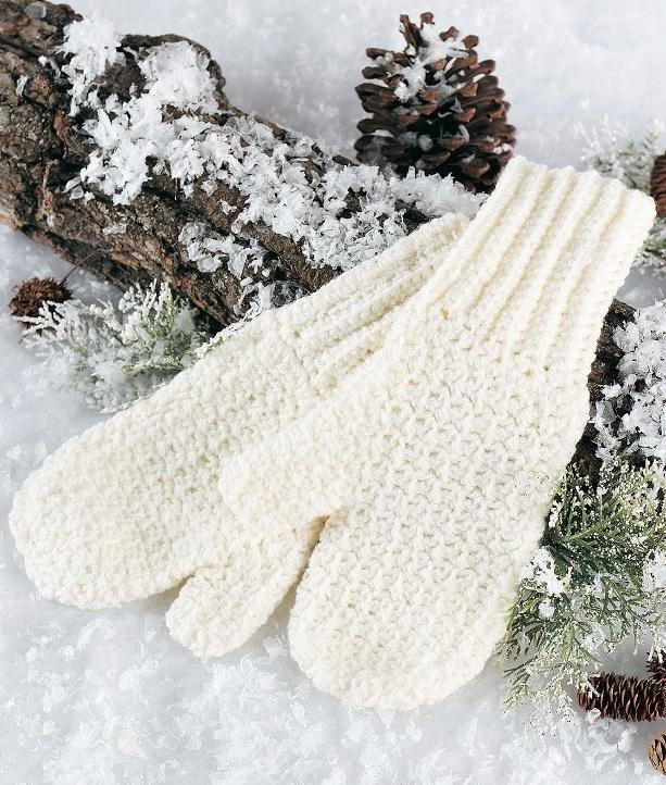 X610 Crochet PATTERN ONLY Soft & Warm Adult Size Mittens Pattern