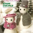 X955 Crochet PATTERN ONLY Victorian Snowman & Snowlady Couple Dolls