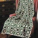 X785 Crochet PATTERN ONLY 3 Afghan Pattern Emerald Isle