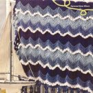 X946 Crochet PATTERN ONLY Ocean Waves Fringe-as-You-Go Baby Blanket