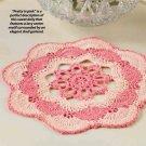 W347 Crochet PATTERN ONLY Sunset Doily Pattern