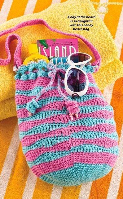 W282 Crochet PATTERN ONLY Beach Bag Tote Pattern