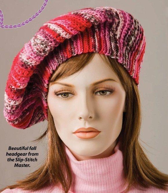W255 Crochet PATTERN ONLY Slip-Stitch Beret Hat Pattern