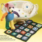 W243 Crochet PATTERN ONLY Scrappy Teddy Bear Toy Doll Pattern