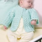W241 Crochet PATTERN ONLY So Sweet Baby Sweater Pattern