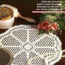 W237 Filet Crochet PATTERN ONLY Lacet Filet Crochet Doily Pattern