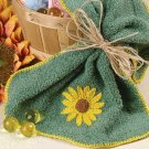 W234 Crochet PATTERN ONLY Sunny Days Washcloth Edging Sunflower Pattern