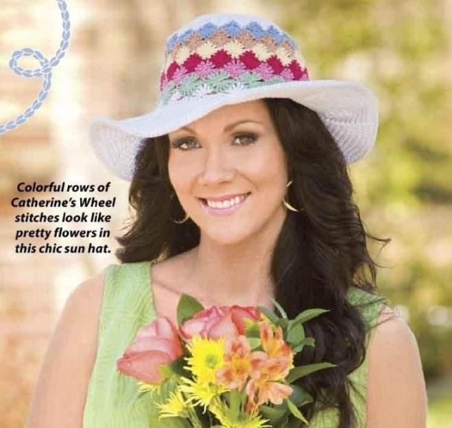 W206 Crochet PATTERN ONLY Garden Party Chapeau Hat Pattern