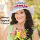 W206 Crochet PATTERN ONLY Garden Party Chapeau Hat Pattern