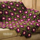 W433 Crochet PATTERN ONLY Winter Rose Hexagon Afghan Throw Pattern