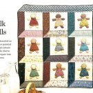 W432 Quilt PATTERN ONLY Stenciled Doll Quilt Pattern