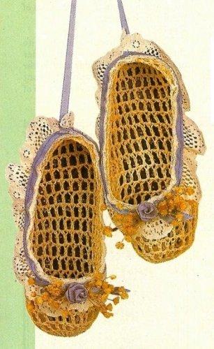 W400 Crochet PATTERN ONLY Ballet Slippers Ornaments Patterns