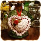 W395 Crochet PATTERN ONLY Little Potpourri Heart Sachet Pattern