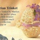 W418 Crochet PATTERN ONLY Victorian Trinket Box Easter Egg Pattern