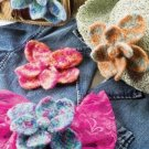 W417 Crochet PATTERN ONLY Big Beautiful Felted Flower Pattern