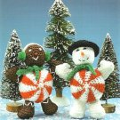 W392 Crochet PATTERN ONLY Large Peppermint & Gingerbread Doll People Patterns
