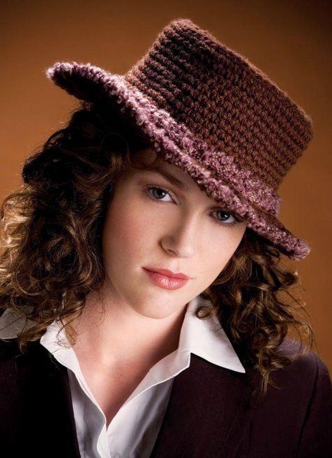 W390 Crochet PATTERN ONLY Classy Continental Hat Pattern