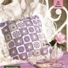 W413 Crochet PATTERN ONLY 4 Motif Magic Pillow Pattern - Granny Square Style