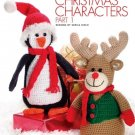W387 Crochet PATTERN ONLY Penguin and Rudolph Reindeer Chirstmas Dolls Pattern