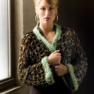 W398 Crochet PATTERN ONLY Irish Inspired Pot O' Gold Shrug Pattern