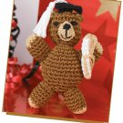 W225 Crochet PATTERN ONLY Graduation Bear Toy & Daisy Tissue Box Cover Patterns
