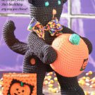 W239 Crochet PATTERN ONLY Halloween Kitty Cat w/ Pumpkin Toy Doll Pattern