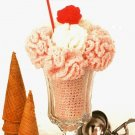 X056 Crochet PATTERN ONLY Strawberry Ice Cream Sundae Soda Pattern